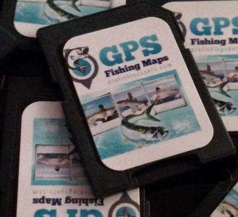 GPS Fishing Spots SD Card