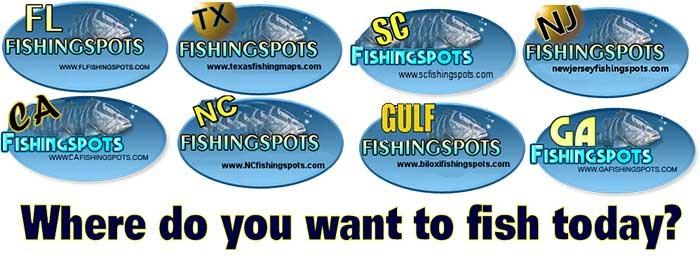 GPS Fishing Spots in all Coastal States